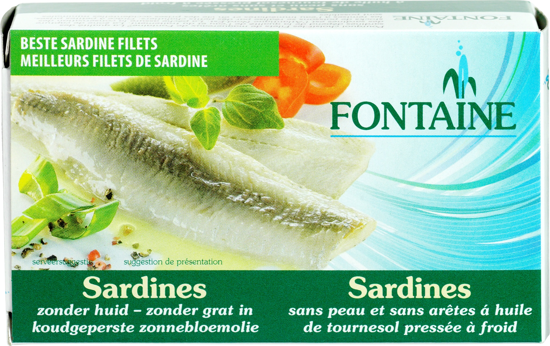 Biologische Fontaine Sardines zond.huid zond.graat 120 gr