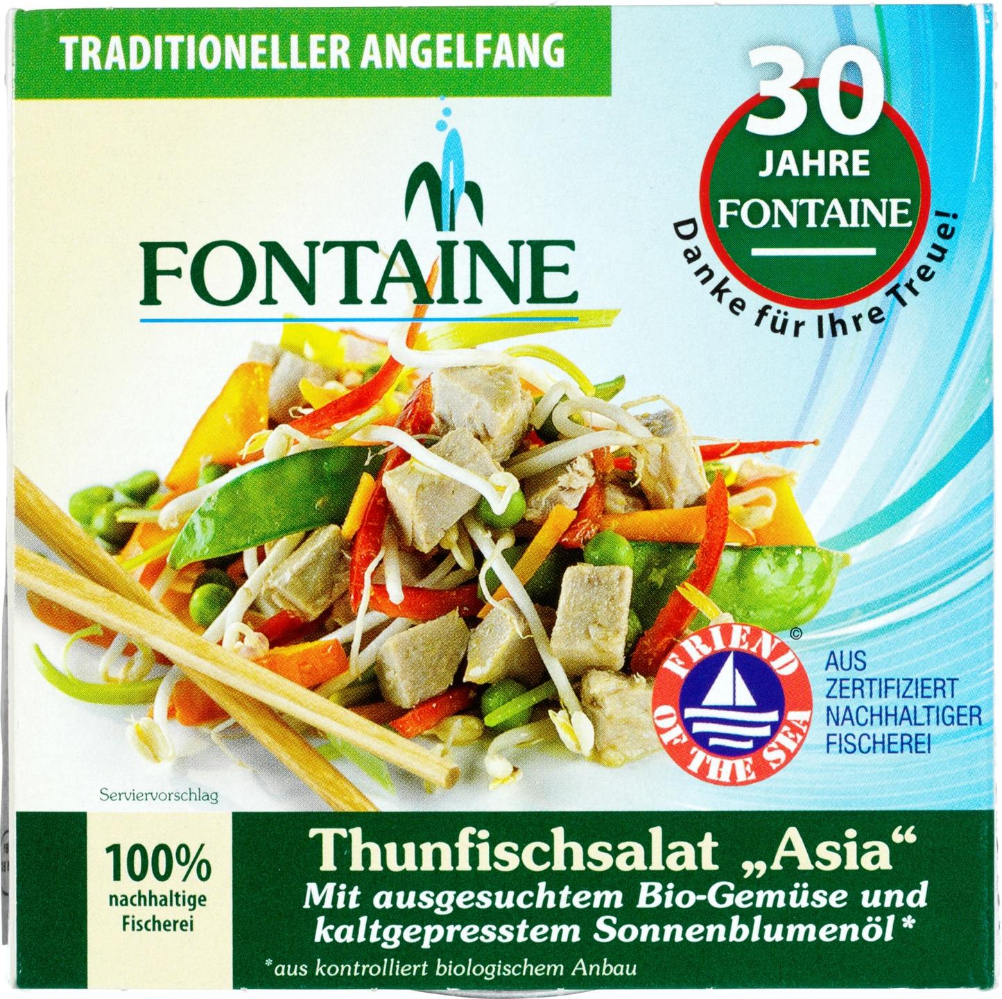 Biologische Fontaine Aziatische tonijnsalade 200 gr