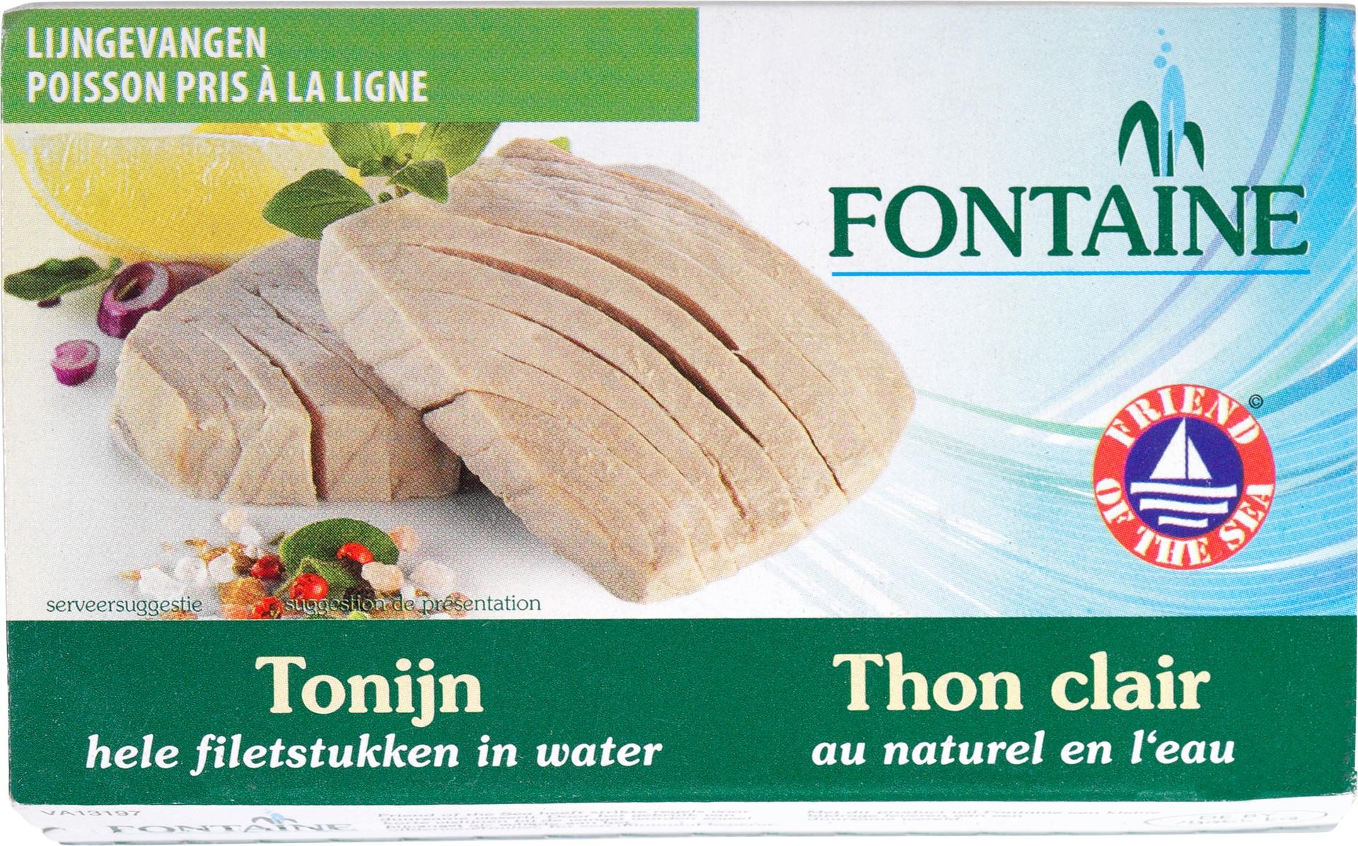 Biologische Fontaine Tonijn in water 120 gr