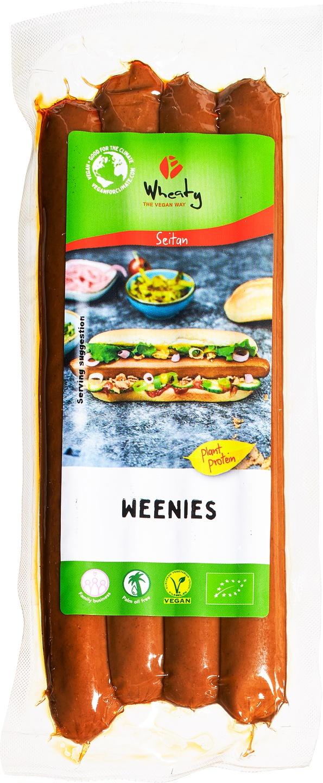 Biologische Wheaty Vegan knakworst 200 gr