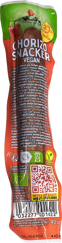 Biologische Wheaty Vegan worstje chorizo 40 gr