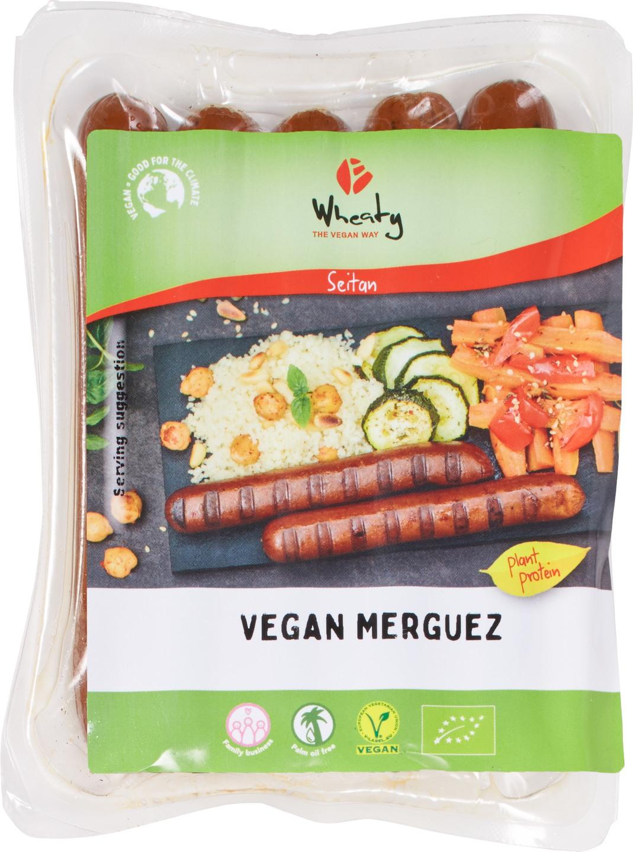 Biologische Wheaty Vegan worst Merguez 200 gr