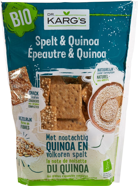 Biologische Dr. Karg's Spelt & quinoa snack 110 gr