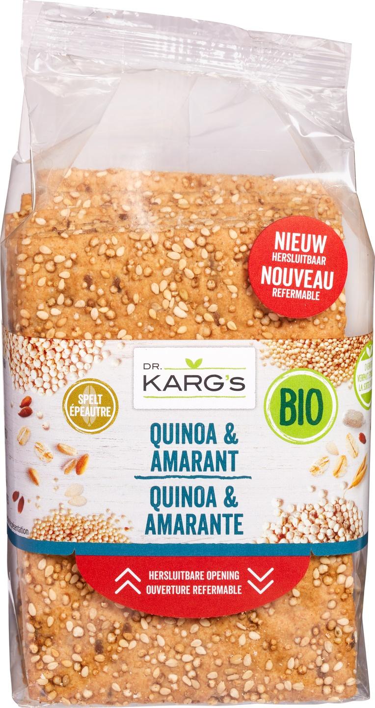 Biologische Dr. Karg's Quinoa amaranth cracker 200 gr