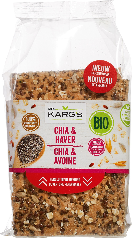 Biologische Dr. Karg's Crackers chia/haver 200 gr
