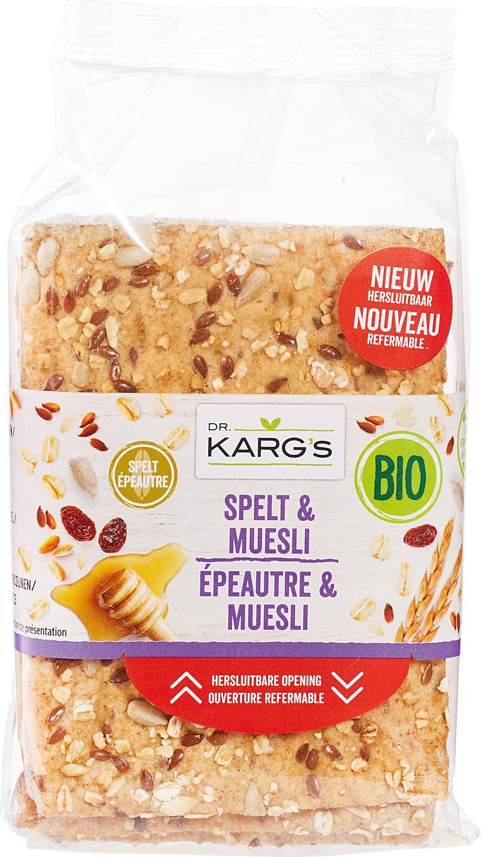Biologische Dr. Karg's Speltcracker muesli 200 gr