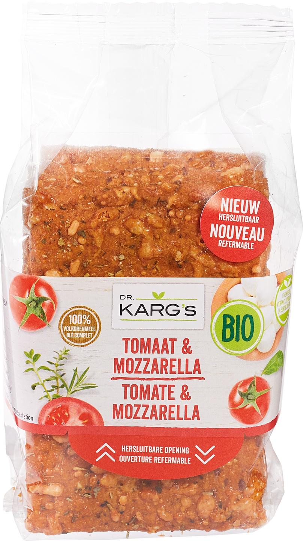 Biologische Dr. Karg's Crackers Tomaat & Mozzarella 200 gr