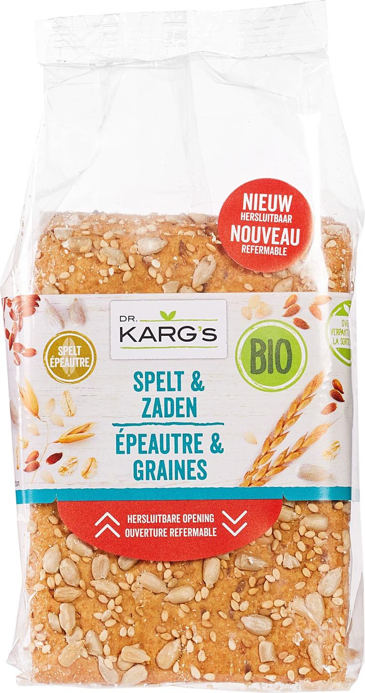 Biologische Dr. Karg's Speltcracker zaden 200 gr