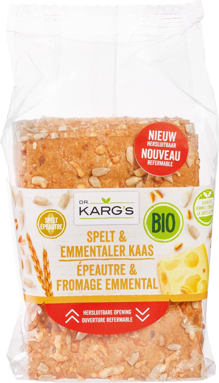 Biologische Dr. Karg's Crackers spelt/kaas 200 gr