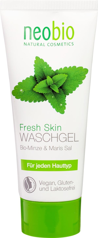 Biologische Neobio Reinigingsgel munt zeezout - gecombineerde en onzuivere huid 100 ml