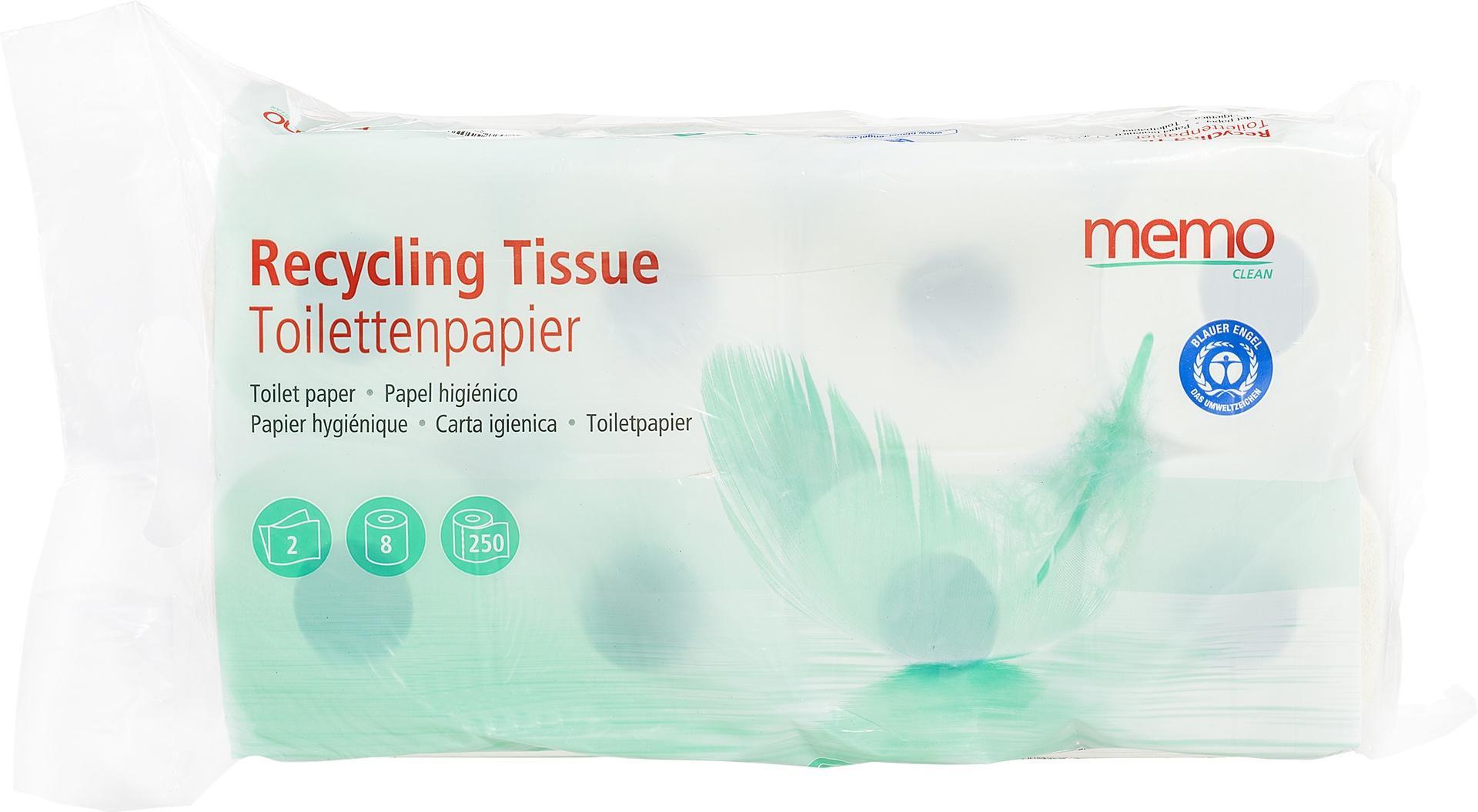 Biologische Memo Toiletpapier 2-laags 8 st