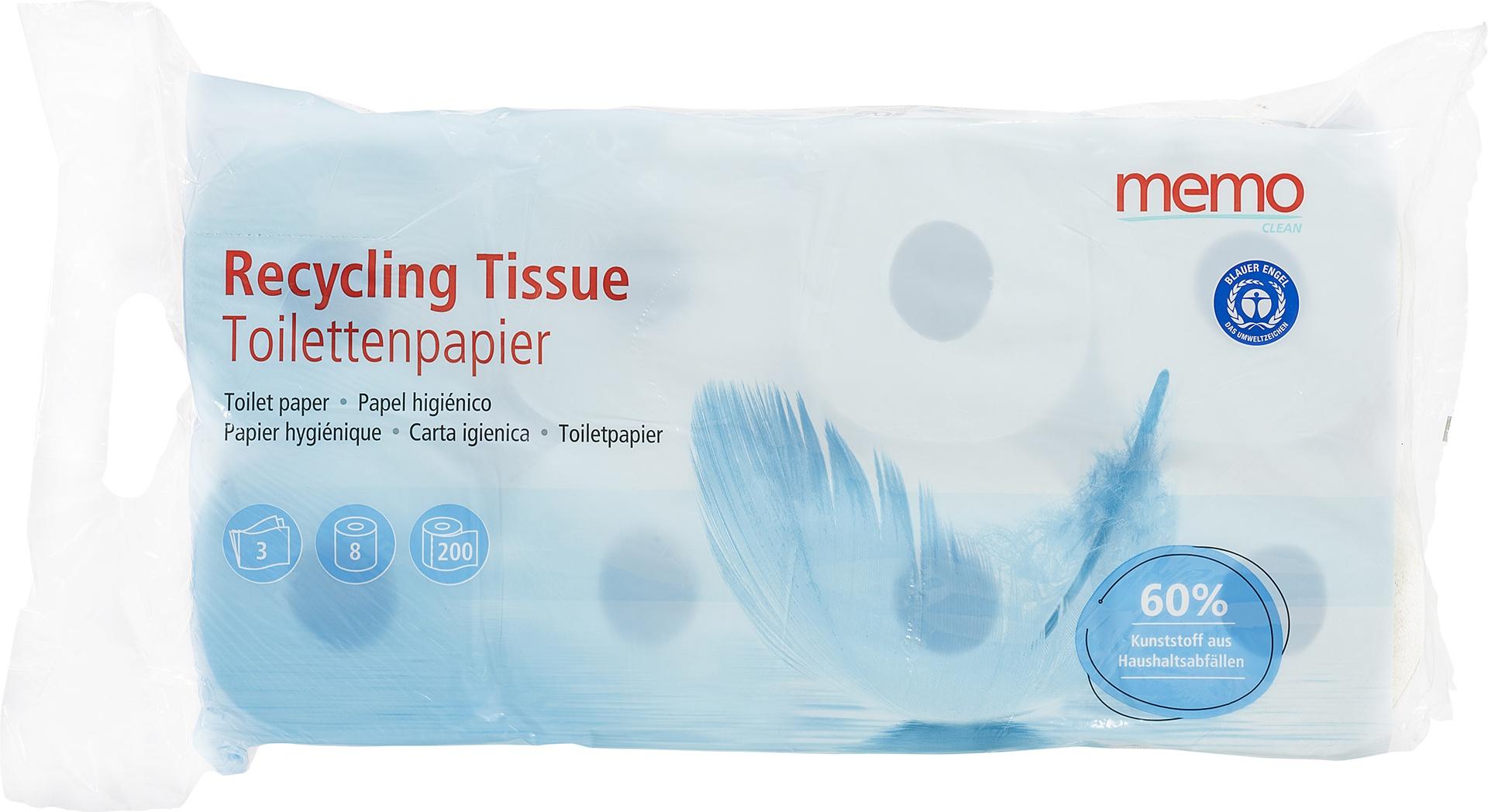 Biologische Memo Toiletpapier 3-laags 8 st