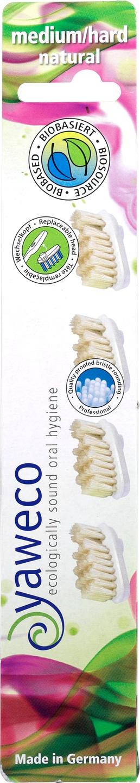 Biologische Yaweco Tandenborstel navulkoppen hard 4 st