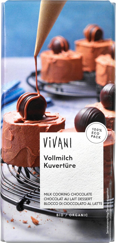 Biologische Vivani Kookchocolade melk 200 gr