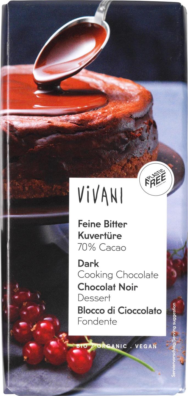 Biologische Vivani Kookchocolade puur 200 gr