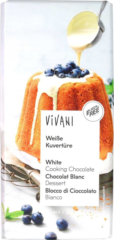 Biologische Vivani Kookchocolade wit 200 gr