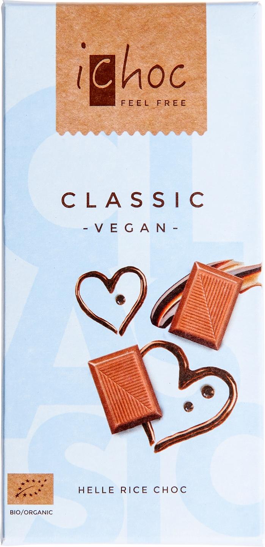 Biologische iChoc Rijstmelk chocolade vegan 80 gr