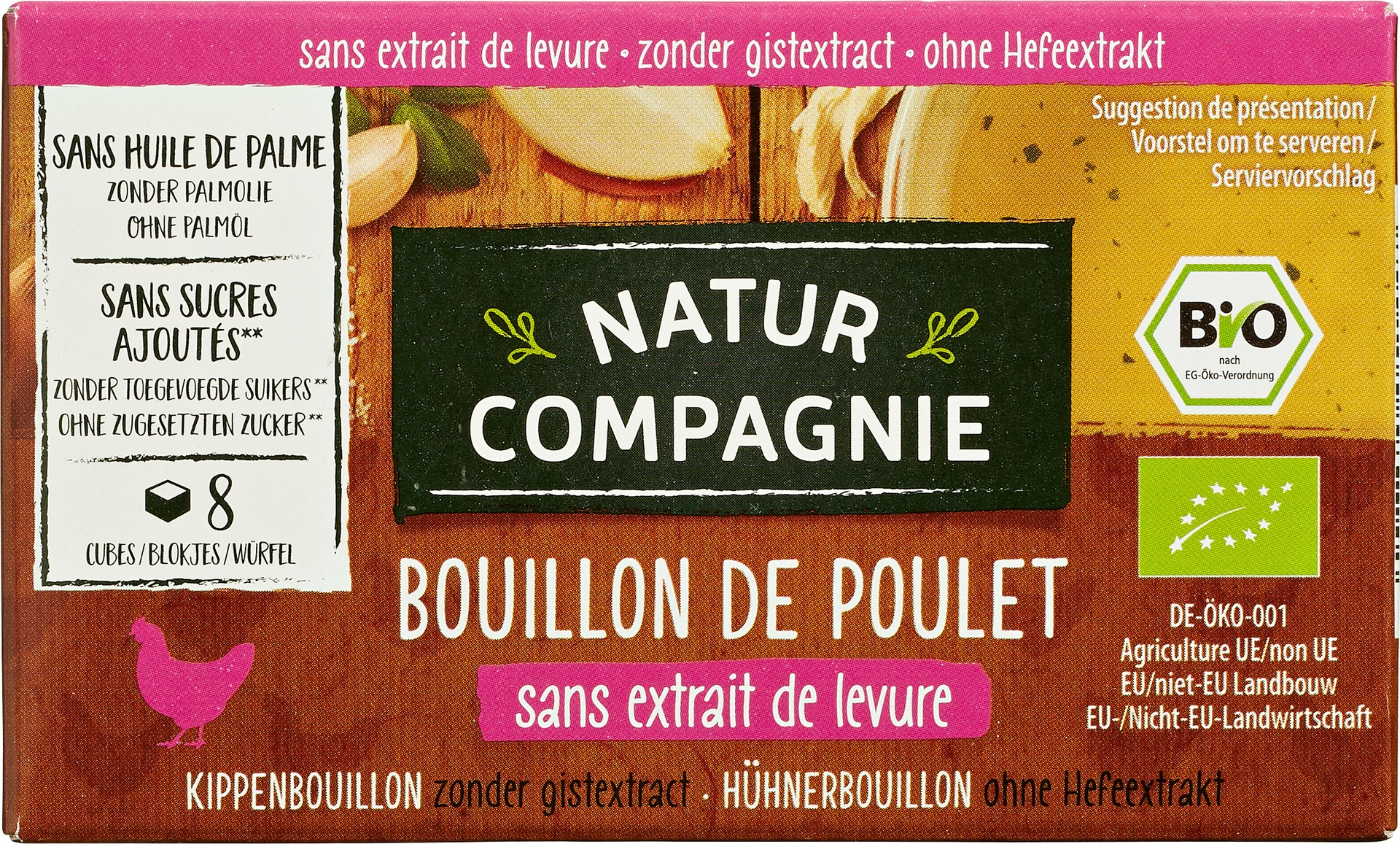 Biologische Natur Compagnie Kippenbouillon gist/suikervrij 80 gr