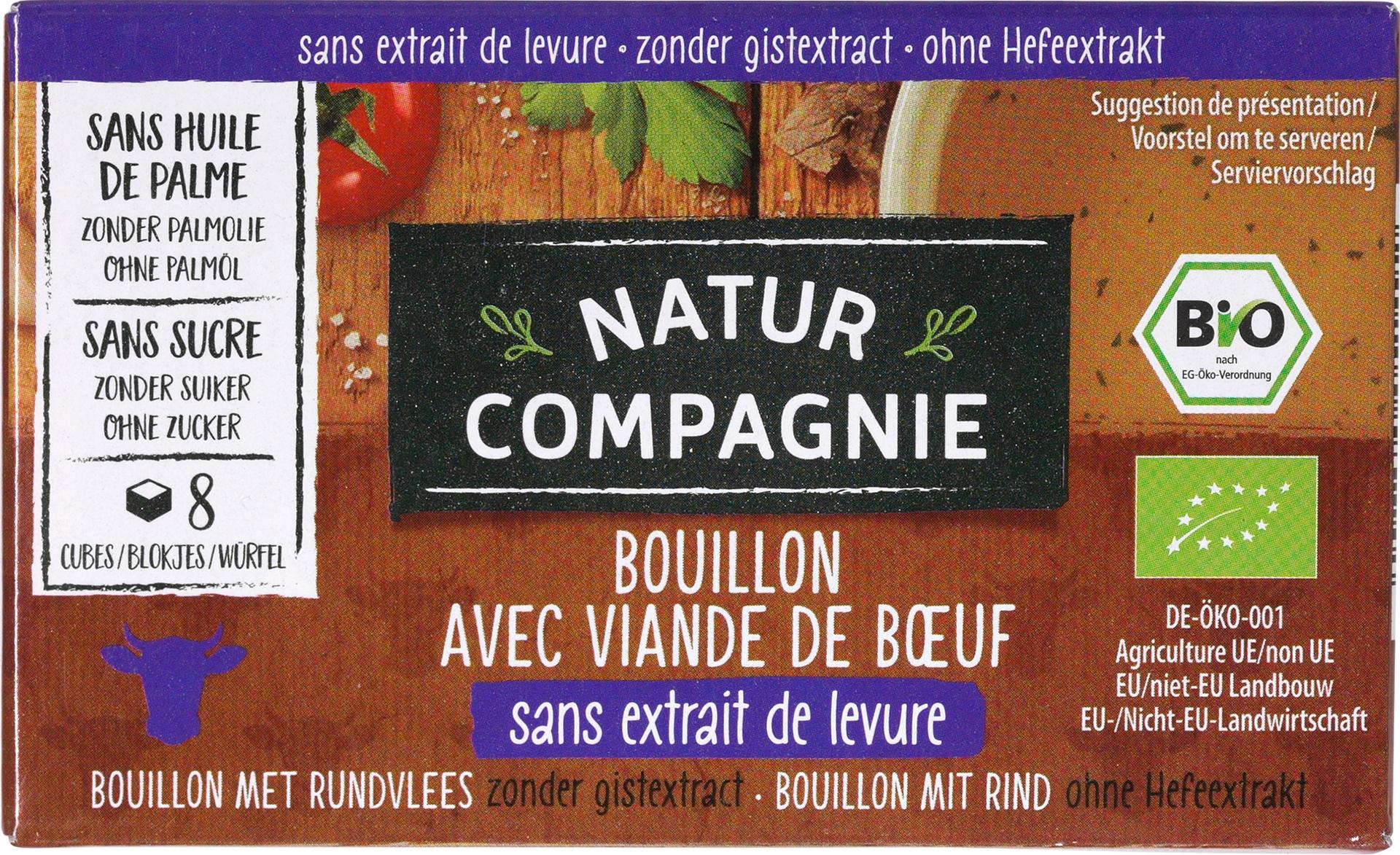 Biologische Natur Compagnie Runderbouillon gist-/suikervrij 80 gr
