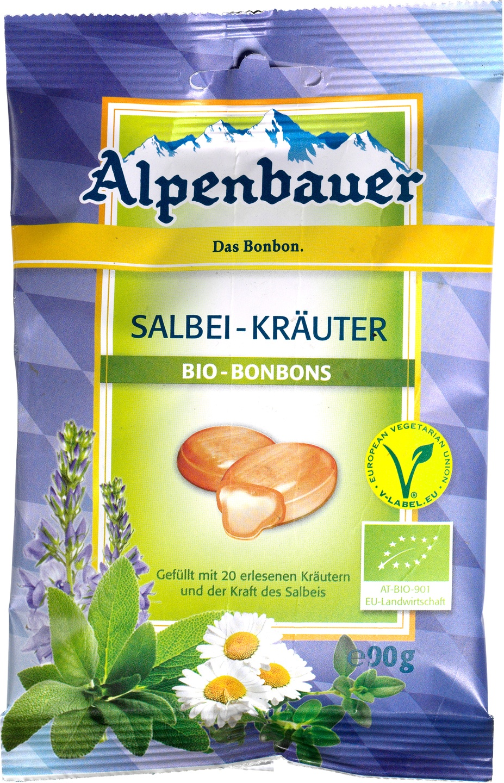 Biologische Alpenbauer Salie-kruiden bonbons 90 gr