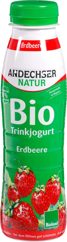 Biologische Andechser Drinkyoghurt aardbei 330 gr