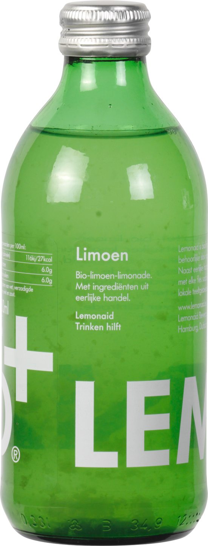 Biologische Lemonaid+ Limonade limoen 330 ml