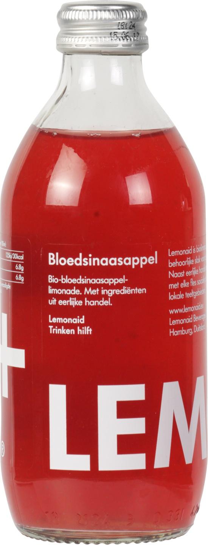 Biologische Lemonaid+ Limonade bloedsinaasappel 330 ml