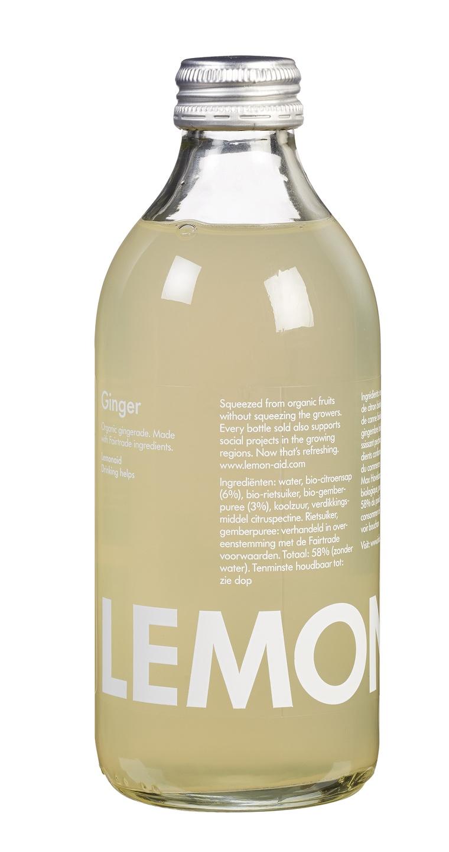 Biologische Lemonaid+ Limonade gember 330 ml