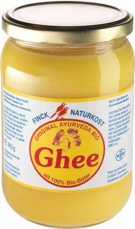 Biologische Finck Naturkost Ghee ayurveda geklaarde boter 480 gr