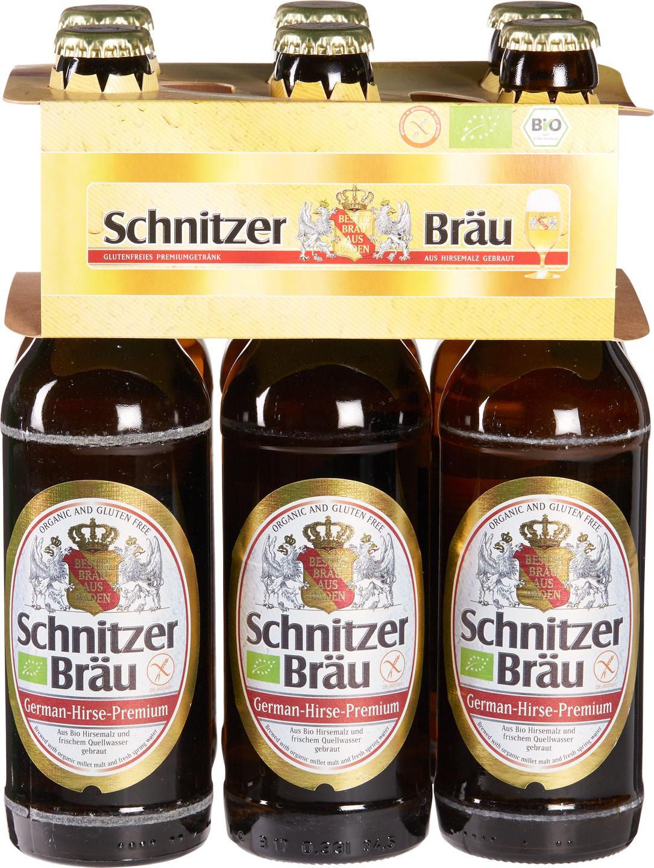 Biologische Schnitzer Glutenvrij bier Six-Pack 6 st