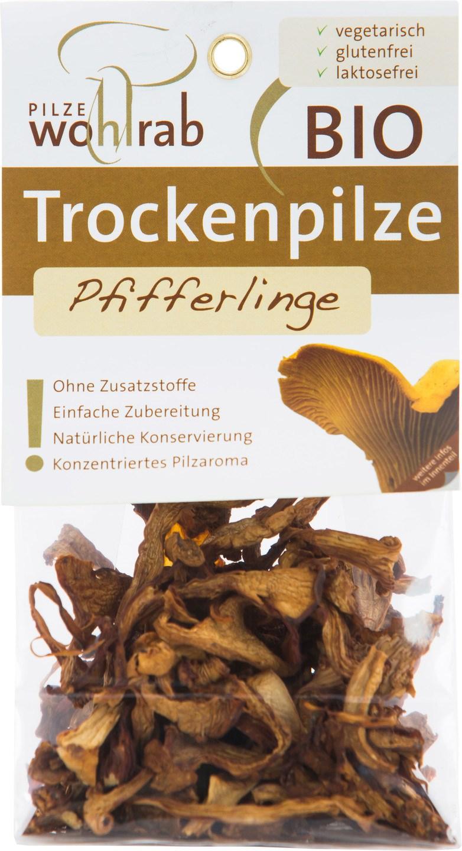 Biologische Pilze Wohlrab Gedroogde cantharellen 20 gr