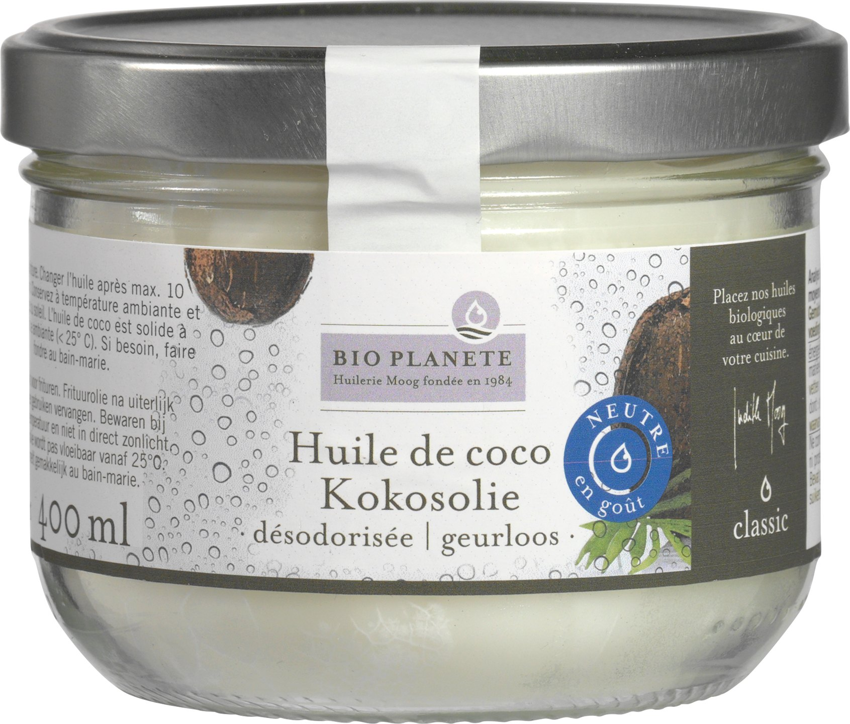 Biologische Bio Planète Kokosolie neutraal 400 ml