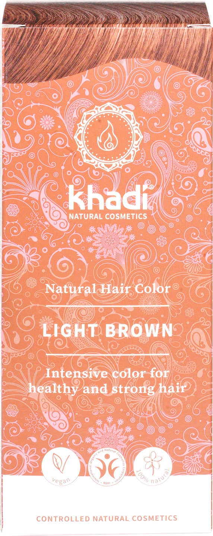 Biologische Khadi Natural haircolor lichtbruin 100 gr