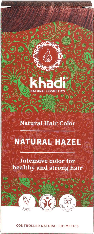 Biologische Khadi Natural haircolor hazelnoot bruin 100 gr