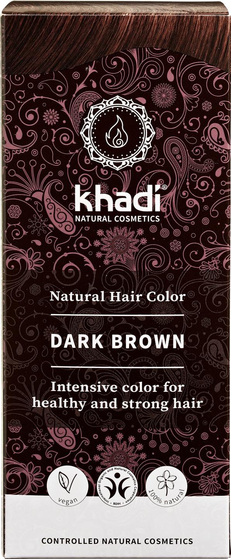 Biologische Khadi Natural haircolor donkerbruin 100 gr