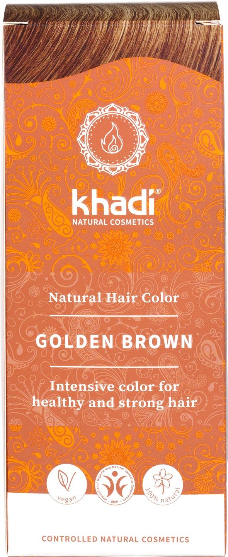 Biologische Khadi Natural haircolor goudbruin 100 gr