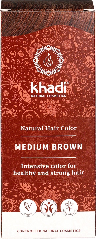 Biologische Khadi Natural haircolor medium bruin 100 gr