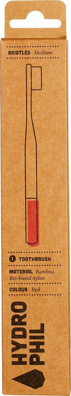 Biologische Hydrophil Tandenborstel rood medium soft 1 st