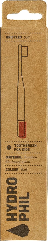 Biologische Hydrophil Tandenborstel rood kids extra soft 1 st