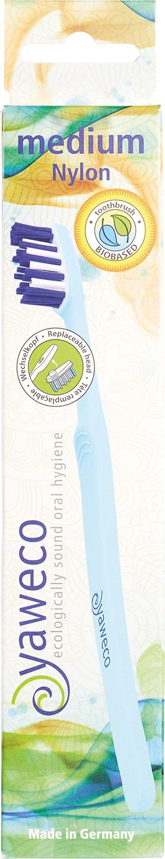 Biologische Yaweco Tandenborstel medium met vervangende kop 1 st