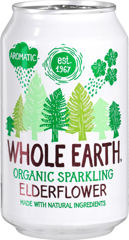 Biologische Whole Earth Sparkling elderflower 330 ml