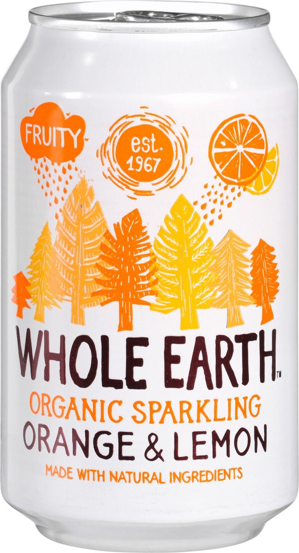 Biologische Whole Earth Sparkling orange & lemo 330 ml