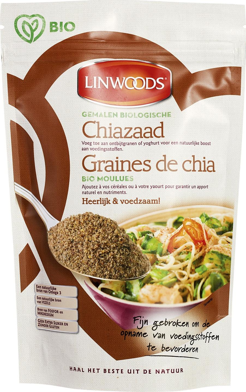 -20% SALE | Biologische Linwoods Chiazaad gemalen 200 gr