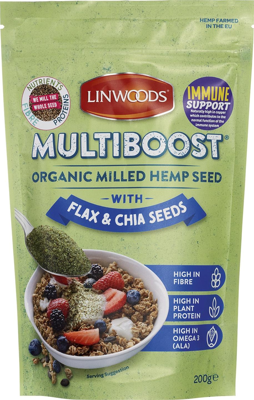 -20% SALE | Biologische Linwoods Hennepzaad gemalen met lijnzaad en chia 200 gr