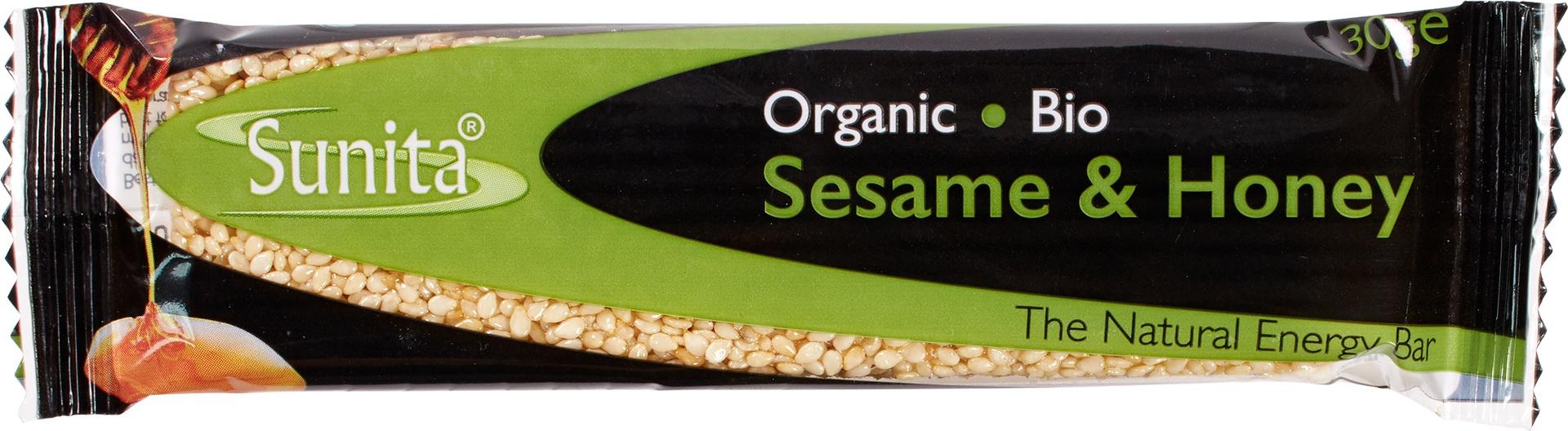 Biologische Sunita Sesamreep honing 30 gr