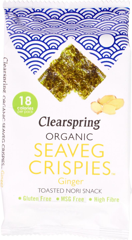 Biologische Clearspring Zeewier crispy gember 4 gr