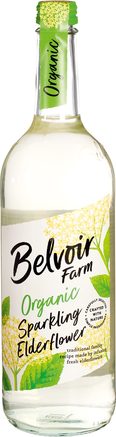 Biologische Belvoir Fruit Farms Elderflower pressé 750 ml