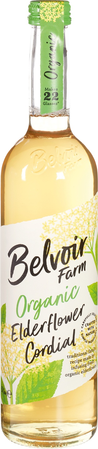 Biologische Belvoir Fruit Farms Elderflower cordial 500 ml