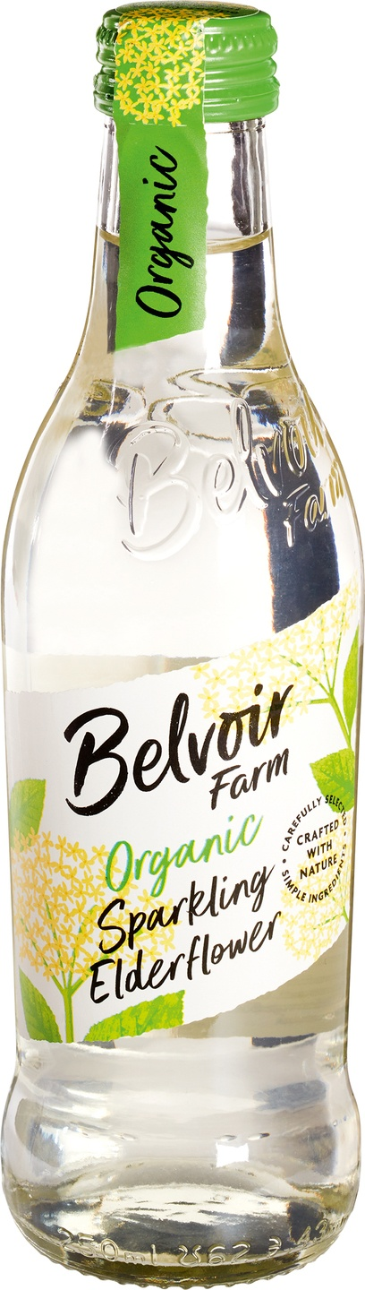 Biologische Belvoir Fruit Farms Elderflower pressé 250 ml