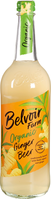 Biologische Belvoir Fruit Farms Ginger beer pressé 750 ml